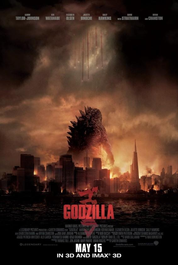 Godzilla 2014 movie poster large malaysia release